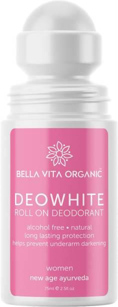Bella vita organic Deo White Deodorant For Women Roll On Natural Under Arm Skin Whitening & Lightening For Girls, Ladies Deodorant Roll-on  -  For Women