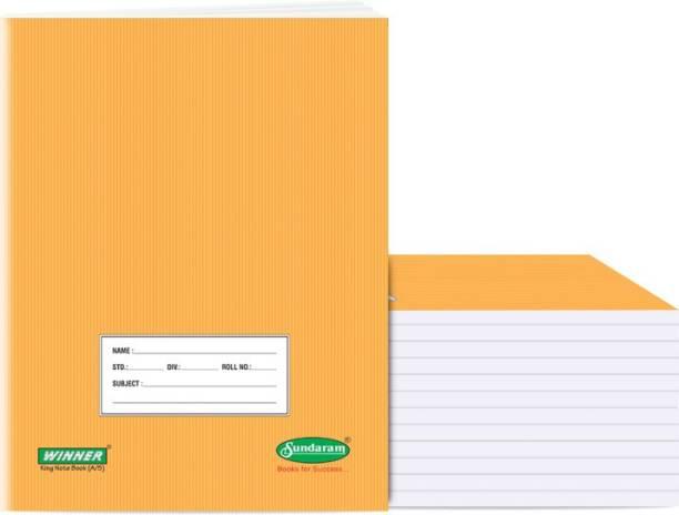 Sundaram Winner King Size 18 x 24 cm Regular Note Book Plain 76 Pages