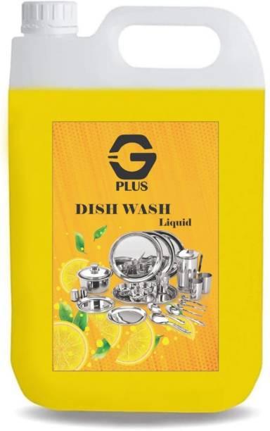 G PLUS 5 LTR Non Acidic dish wash Liquid Detergent Dish Cleaning Gel Dish Cleaning Gel (lemon, 5 L) Dish Cleaning Gel