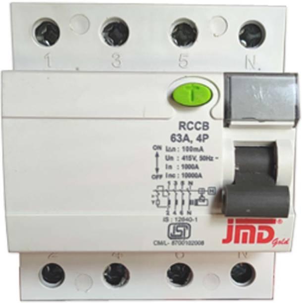 jmD Gold RCCB Four Pole 63 AMP/100MA 240 V Residual Current Circuit Breaker ISI Mark 0016 MCB