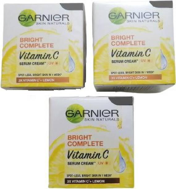 GARNIER Bright complete fainess uv serum cream (45*3=135gm) (PACK OF 3)