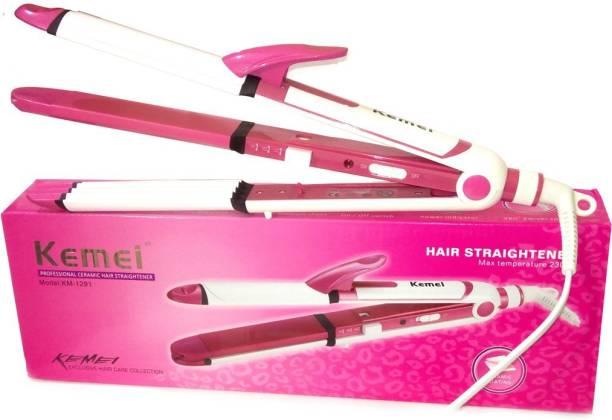 Kemei km-1291 hair straightener 3 in 1 curler 1291 3in1 Hair Straightener Cum Curler And Crimper Iron Hair Straightener