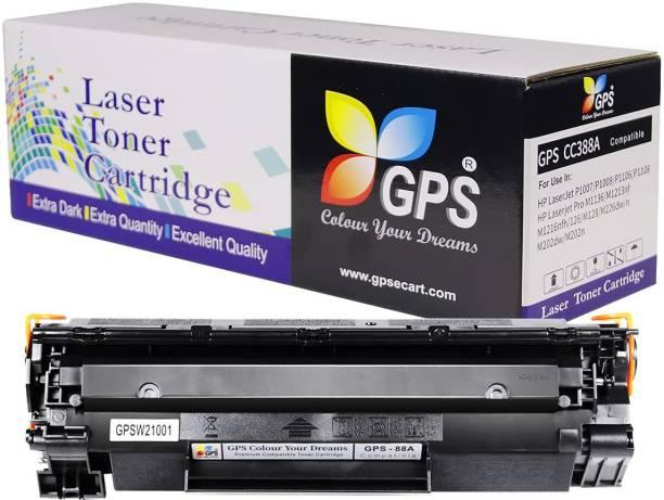 GPS Colour Your Dreams HP Laserjet M1136 MFP Black CC388A / 88A Toner Cartridge Black Ink Toner