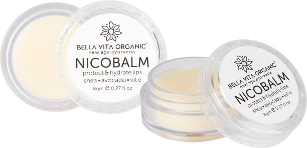 Bella vita organic Lip Balm NicoBalm 2 Pack For Women,Men,Boys & Girls To Hydrate Dry, Chapped, Damaged Lips & Get Baby Lips | Pre Smoke Balm | Pre Lipstick Balm, 8 gm Each Smoke (Pack of: 2, 8 g) Smoke