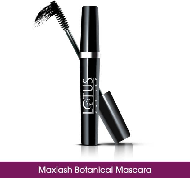 LOTUS HERBALS MAKE-UP MAXLASH VOLUMISING BOTANICAL WATERPROOF MASCARA - BLACK 4 g