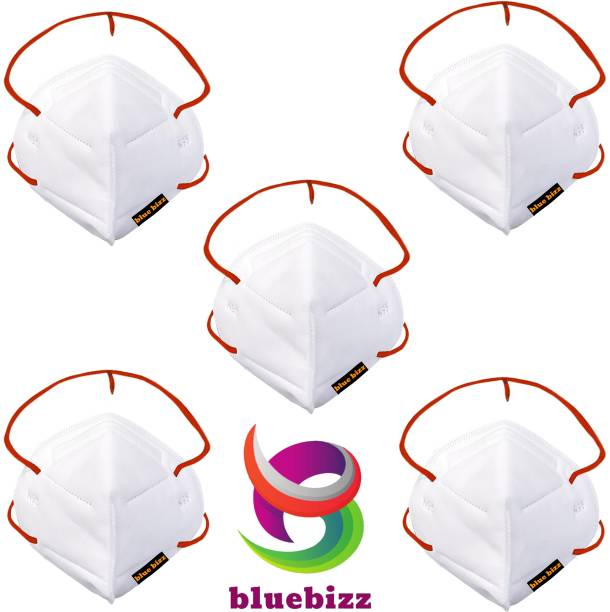 bluebizz HEAD LOOP N95 GREY RED Reusable, Washable,6 Layer Anti Pollution , Anti - Virus Breathable Reusable, Washable