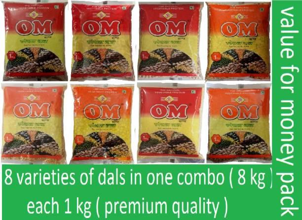 OM Combo (mix dal, arhar ( toor dal ), kabuli chana ( chola ), rajma, kala chana, chana dal, moong dhowa, black masoor)