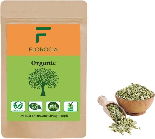 Florocia Organic Fennel Seeds Whole ( Sabut Saunf / Variyali ) Small - 500g | Cooking, Weight Loss
