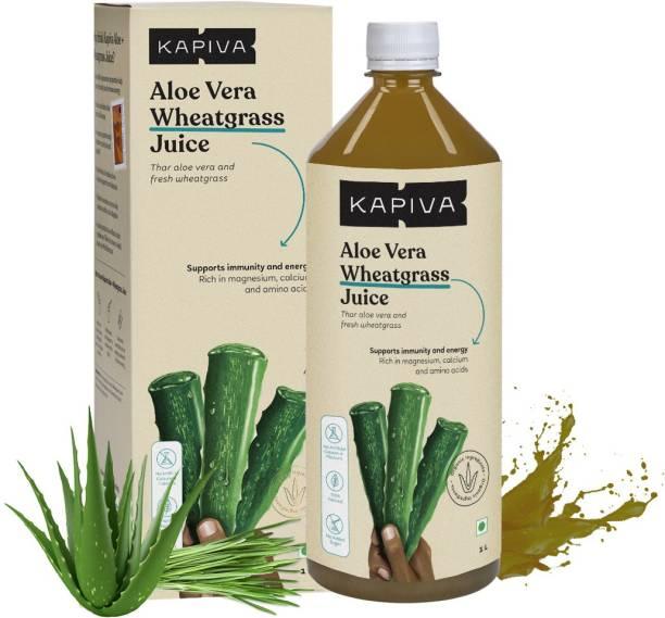 Kapiva Aloe Vera + Wheatgrass Juice Natural Detoxifier � No Added Sugar