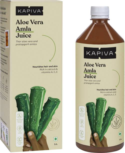 Kapiva Aloe Vera + Amla Juice Boosts Immunity - No Added Sugar