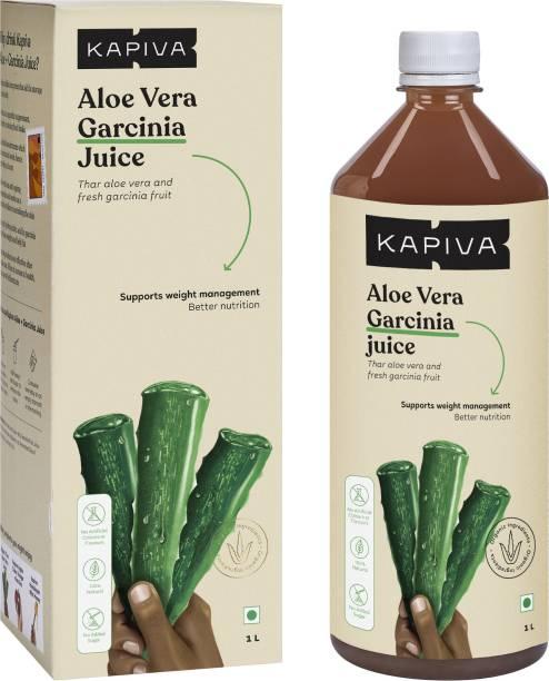 Kapiva Aloe Vera + Garcinia Juice Aids Weight Loss - No Added Sugar,