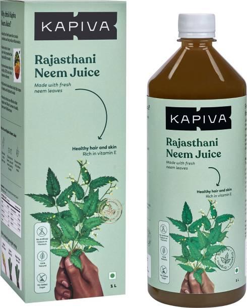 Kapiva Rajasthani Neem Juice | Natural Juice made from Fresh Neem Leaves | Healthy Hair & Skin | No Added Sugar