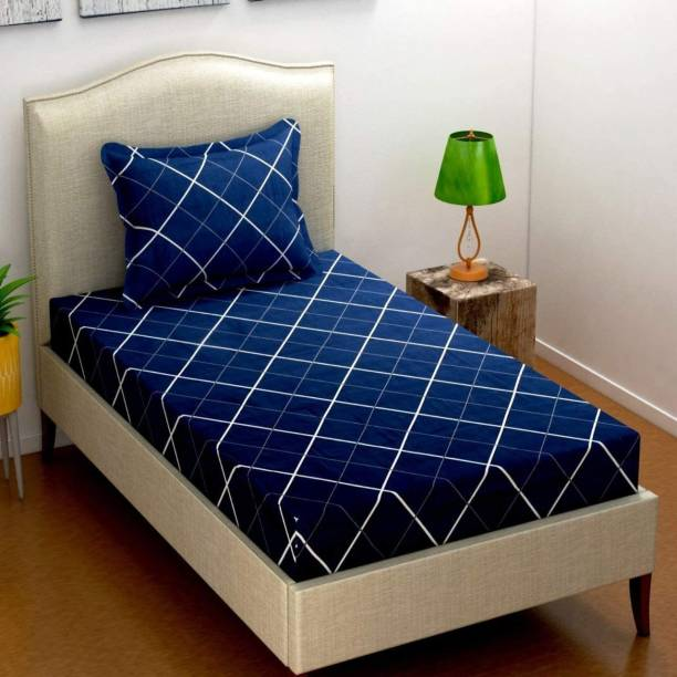 VAS COLLECTIONS 160 TC Cotton Single Checkered Bedsheet