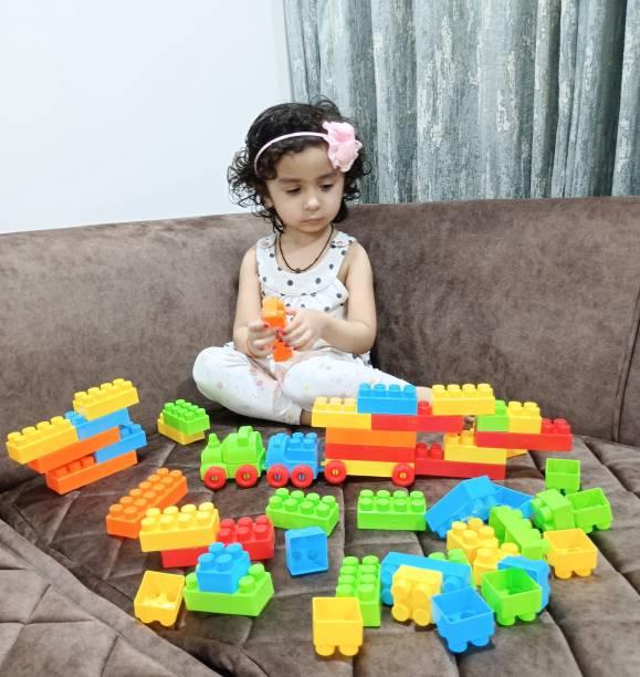 TechHark Mega Jumbo Big Size Educative & Intellectual Block Set Building Blocks, Creative Learning Educational Toy for Kids Puzzle Assembling Building Unbreakable Toy Set
