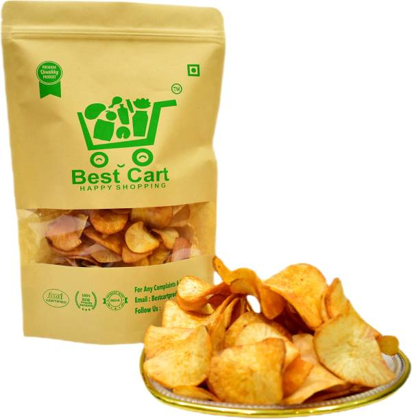 Best cart-Happyshopping tapioca chips spicy pack of 300 gm Chips
