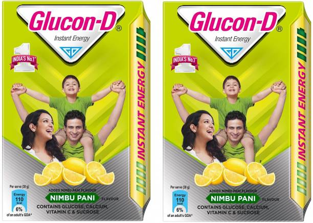 GLUCON-D Instant Energy Nimbu Pani Flavour 450 Gram Refill Pack Of 2 Energy Drink