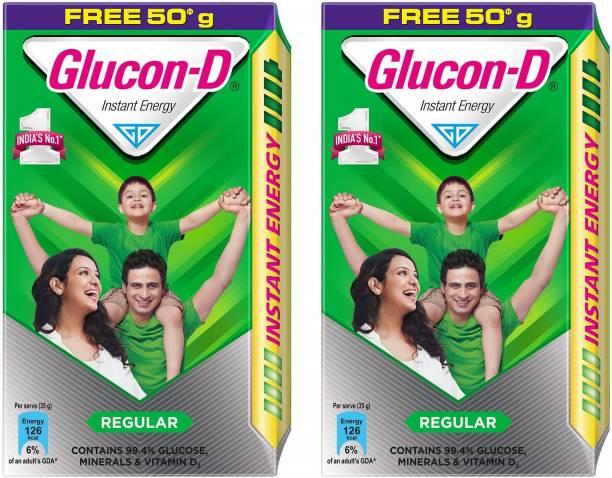 GLUCON-D Instant Energy 500 Gram Pack Of 2 Energy Drink