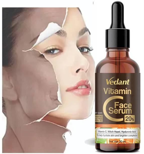 Vedant Vitamin C with E Face Serum for Skin Whitening Women , Anti Aging Skin Repair, gold-maroon-30ml-vita-18 with Smoothening & Brightening Face (30 ml)