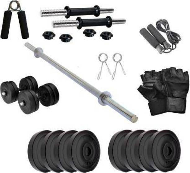 lifecare products 10 kg Home Gym Set with 3 fit Straight Rod & 1 Accessories best gym kit. Home Gym Kit