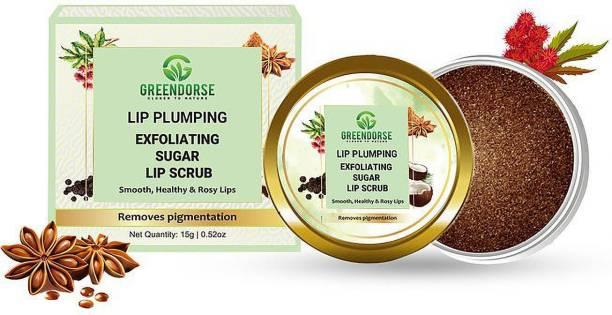 GREENDORSE Lip Plumping and Exfoliating Sugar Scrub natural