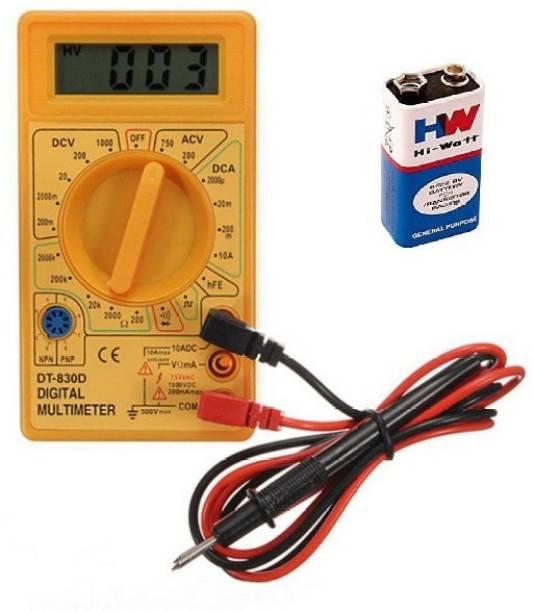 Republic Multimeter AC DC Voltage current (DT-830D) Digital Multimeter ( 2000 Counts) with 9V HW Battery Digital Multimeter