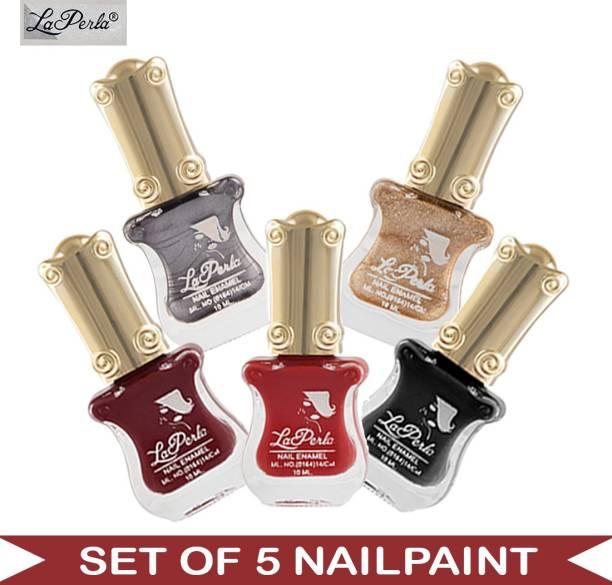 La Perla (LP-NPCMB5-6519) - CH Piano Multicolor Nail Paint - 10 ml Each Multicolor