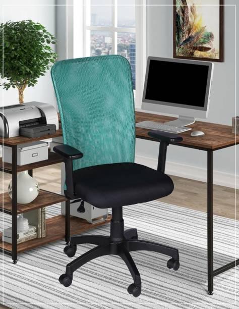 White Clouds Enterprise White Clouds Enterprise Mesh Medium Back Office Chair Fabric Office Arm Chair