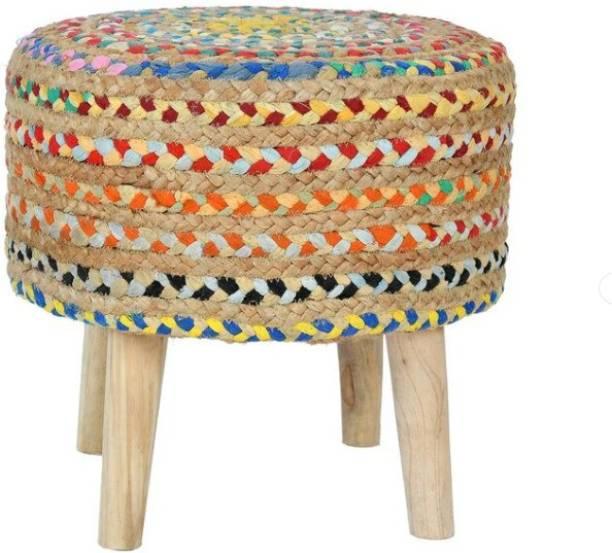 sheen decor Solid Wood Standard Ottoman