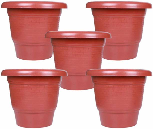 Maanit 12 Inch Garden Outdoor Pot Planter Pack of 5 Plant Container Set