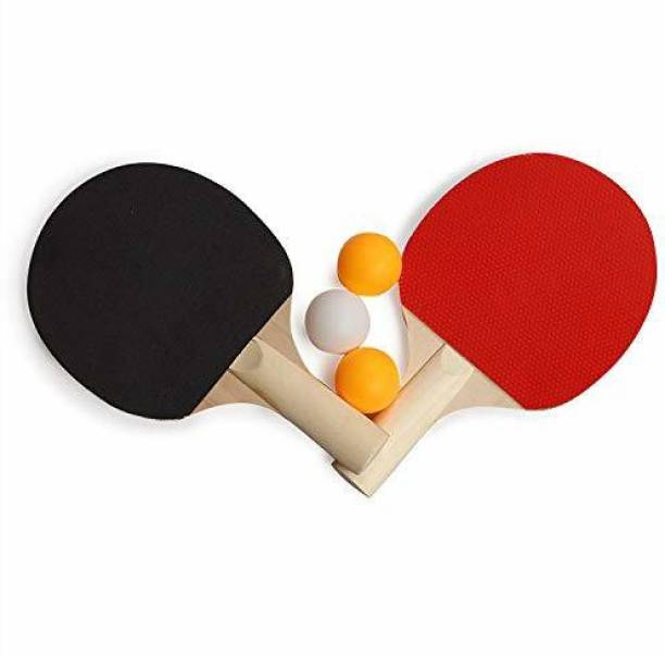 FITNACE TABLE TENNIS BATS WITH BALLS RED BLACK TENNIS RACQUET Table Tennis Kit