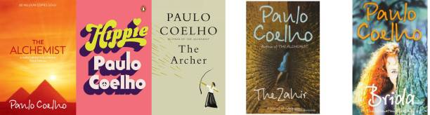 Set Of 5 Books-Brida,The Zahir,The Archer,The Alchemist, Hippie(Combo Of Paulo Coelho Books)