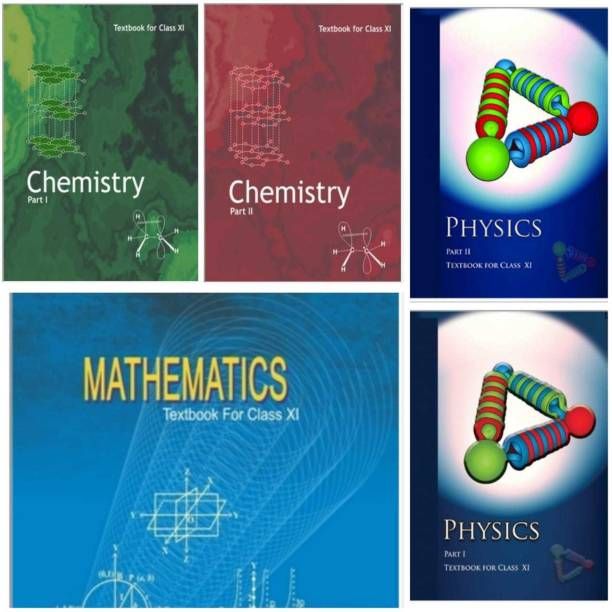 NCERT CHAMESIRTY TEXKBOOK PART 1AND 2,PHYSICS TEXKBOOK PART 1 AND 2, MATHEMATICS TEXKBOOK ( NCERT FOR 11 CLASS 5 COMBO) (PCM) No Ncert