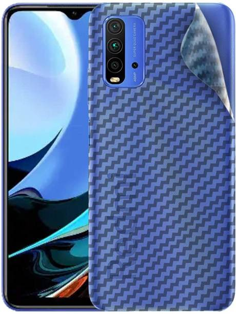 GLASS STAR Back Screen Guard for REDMI 9 POWER Ultra Thin Slim Fit 3M Clear Transparent 3D Carbon Fiber Back Skin Rear Wrap Not Glass Screen Guard/Protector Sticker