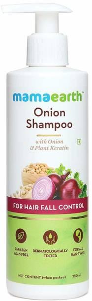 "MamaEarth ""Onion Hair Fall Shampoo for Hair Growth & Hair Fall Control, with Onion Oil & Plant Keratin 250ml"""