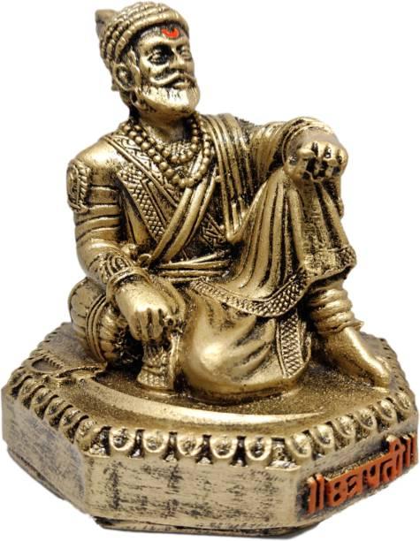 Chakor Creation Chhatrapati Shivaji Maharaj Murti/Statue for Home Decore/ Office Decor/ Gifting Decorative Showpiece  -  9 cm