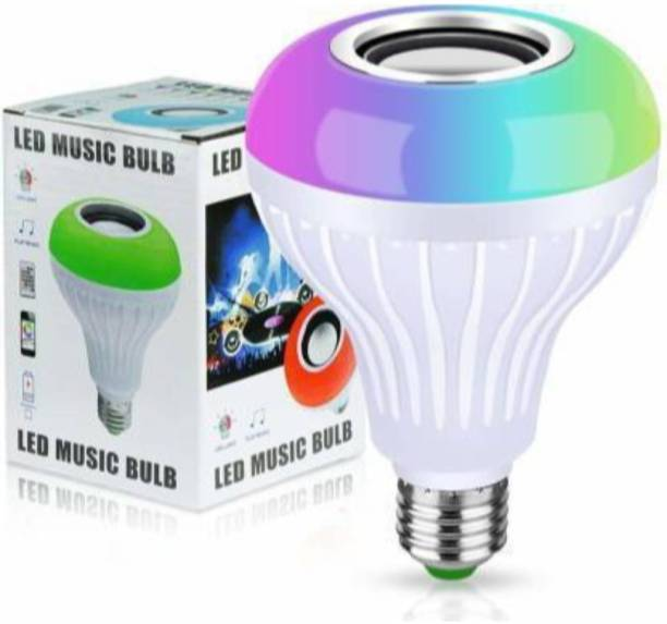 PB Softtech Led Bulb with Bluetooth Speaker Music Light Bulb B22 LED White + RGB Light Ball Bulb Colorful Lamp with Remote Control for Home, Bedroom, Living Room, Party Decoration Smart Bulb Smart Bulb