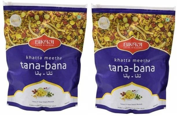 Bikaji Khatta Meetha Tana-Bana 400 Gram Pack Of 2