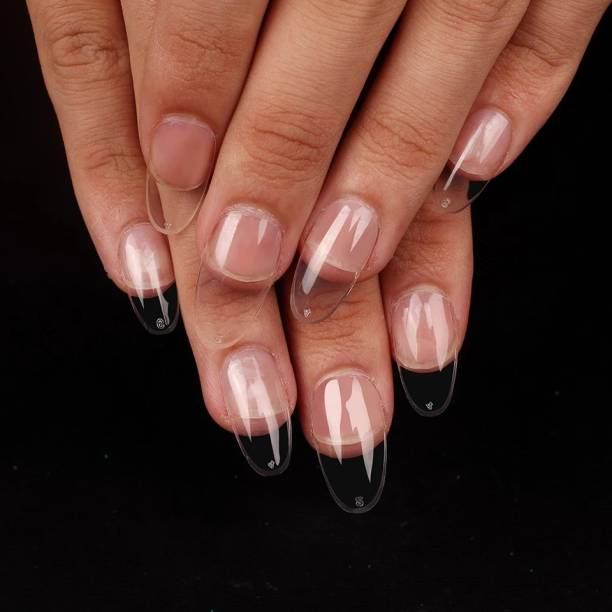 business venture 24 PC /Set Artificial Nail/Nails with glue.Nail extension tips transparent