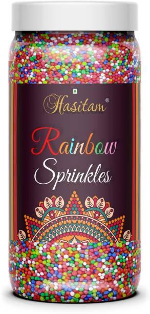 HASITAM Premium Quality Rainbow Sprinkles for Cake Decoration / cupcakes Sprinkles