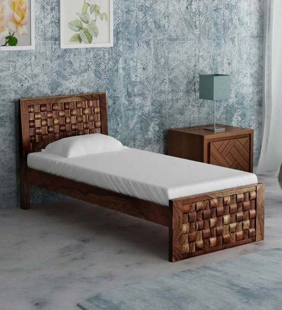House Of Kuber Solid Sheesham Wood Single Size Bed Solid Wood Single Bed