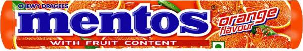 Mentos Orange Candy Sticks