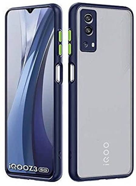 Valueactive Back Cover for Back Case Cover, IQOO Z3 (5G), Camera Protection (Smoke)