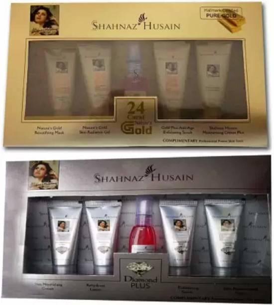 Shahnaz Husain Gold and Diamond facial kit 95 g (Set of 10) (10 x 9.5 g)