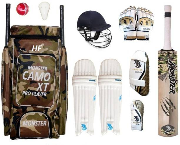 HF Monster Camoo XT Pro Full Size ( IDEAL FOR 15-21 YEARS ) Complete Cricket Kit