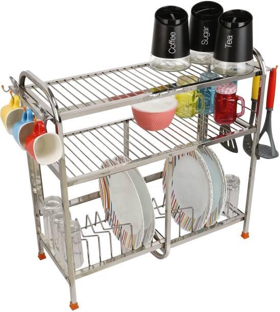 Amol Premium Stainless steel Utensils / Dish / Vessels / Glass / Wall Mount / Kitchen Organizer Stand Utensil Kitchen Rack