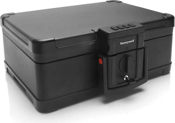 Honeywell Safes - 1553 Fire And Water Resistant Chest Safe With TouchPad Lock (.24 Cu Ft.) - Black Safe Locker