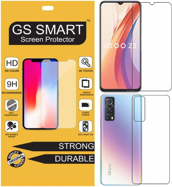 GS Smart Front and Back Tempered Glass for iQOO Z3 {Flexible}, V2073A, Z3