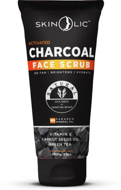Skinolic Activated Charcoal Deep Cleansing Face  Scrub