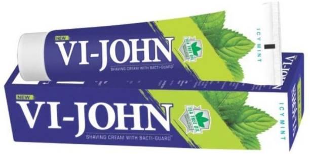 VI-JOHN Shaving Cream Icy Mint 125GM PACK of 12