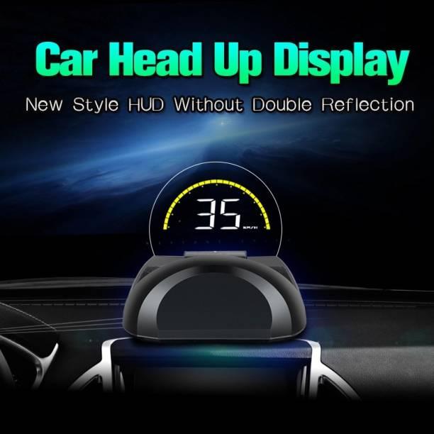 upwade Multi-Color Screen Car hud Head up Display OBD2 Speed Warning with Flap Digital Speedometer
